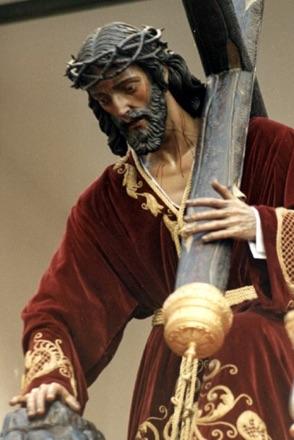 Nueva imagen de Nuestro Padre Jesús de los Pasos desde 1977. Realizada por Antonio Eslava Rubio