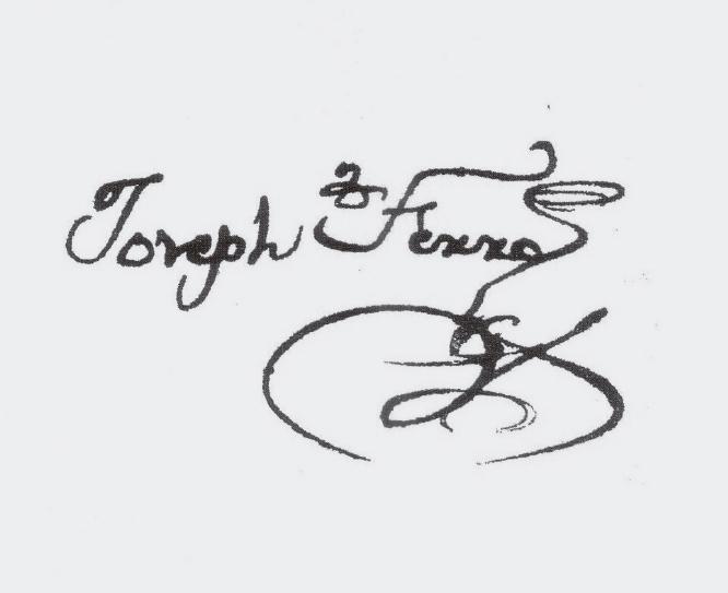 Firma de José Ferro